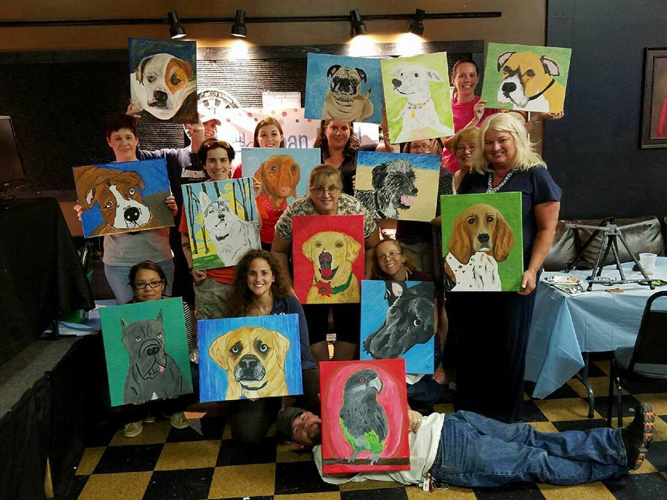 Paint Your Pet Fundraiser At Chesapeake Bar And Grill Uliveusa
