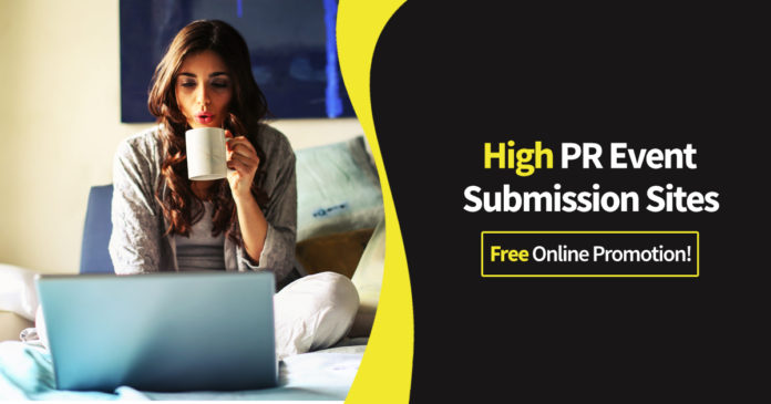 High PR Event Submission Sites