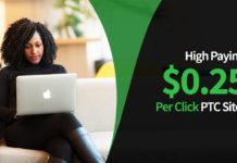 0.25 Per Click PTC Sites