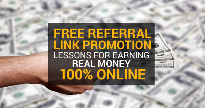 Referral Link Promotion Earn Real Money
