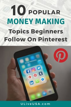 Popular Pinterest Money Making Topics