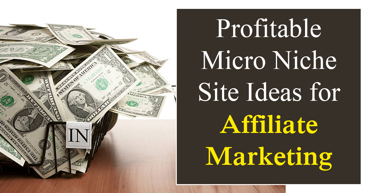 Micro Niche Site Ideas for Affiliate Marketing