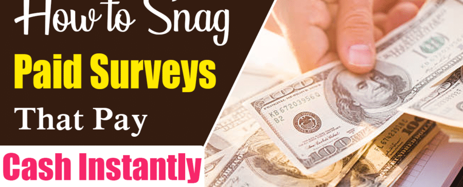 Paid Surveys That Pay Cash Instantly
