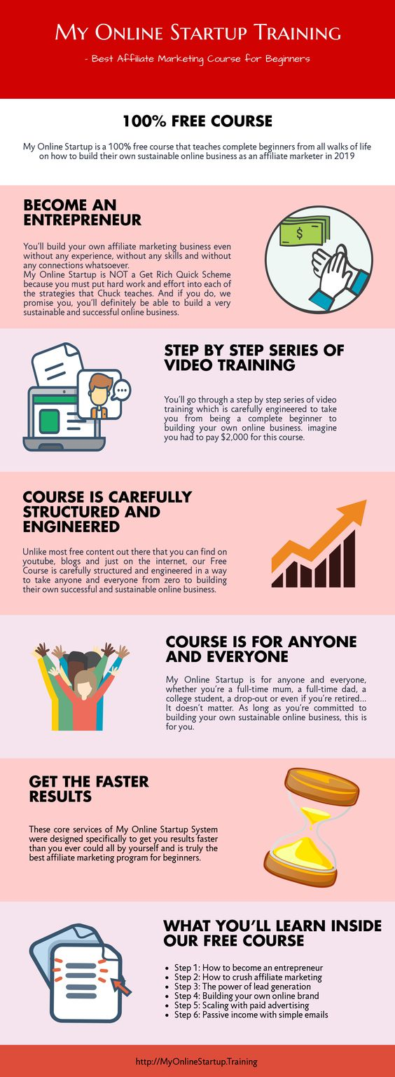 My Online Startup Course Infographic