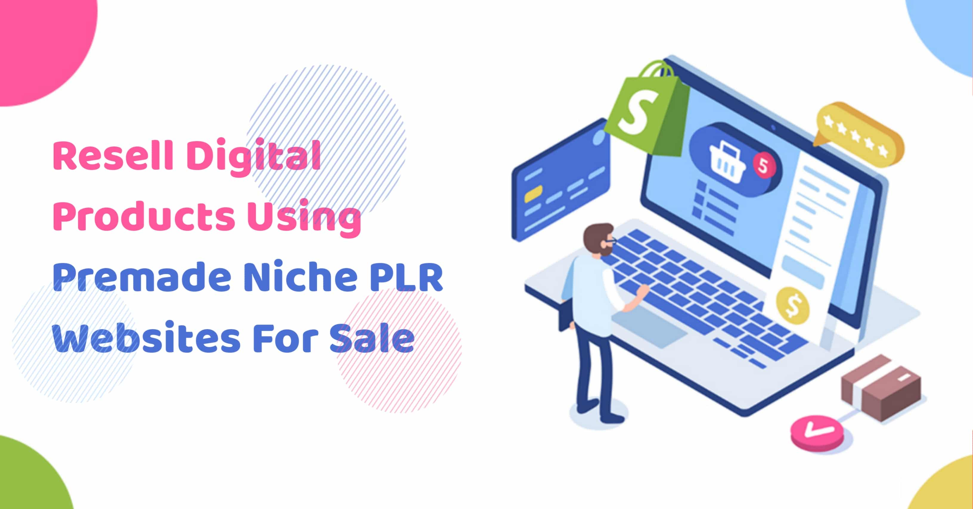 Resell Digital Products Using Premade Niche PLR Websites For Sale
